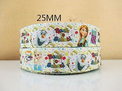 1 METRE BACK TO SCHOOL FROZEN RIBBON SIZE INCH BOWS HEADBANDS BIRTHDAY CAKE #38