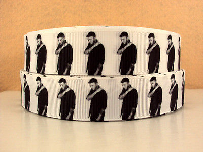 1 METRE JAMES ARTHUR RIBBON SIZE 1 INCH BOWS HEADBANDS BABY HAIR BIRTHDAY CAKE