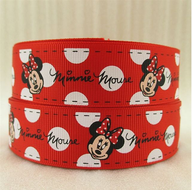 Prime 1 Metre Minnie Mouse Red White Polka Ribbon Size 1 Inch Bows Funny Birthday Cards Online Alyptdamsfinfo