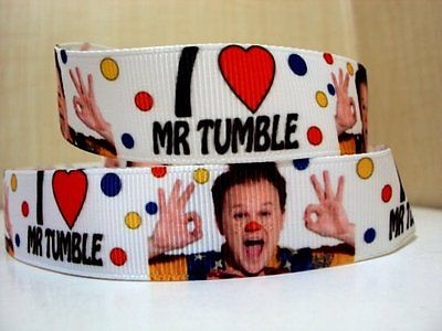 1 METRE MR TUMBLE RIBBON SIZE 7/8 BOWS HEADBANDS BABY HAIR CLIPS BIRTHDAY CAKE
