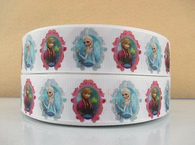 1 METRE NEW ELSA + ANNA FROZEN RIBBON SIZE INCH BOWS HEADBANDS BIRTHDAY CAKE #34