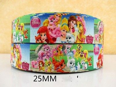 1 METRE NEW PALACE PETS PRINCESS RIBBON SIZE 1 INCH BOWS HEADBANDS HAIR CAKE