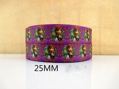 1 METRE NEW PURPLE FROZEN RIBBON ANNA SIZE INCH BOWS HEADBANDS BIRTHDAY CAKE #43