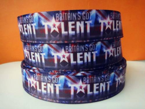 1 METRE OF BRITAINS GOT TALENT RIBBON SIZE 7/8s HEADBANDS BOWS HAIR CLIPS