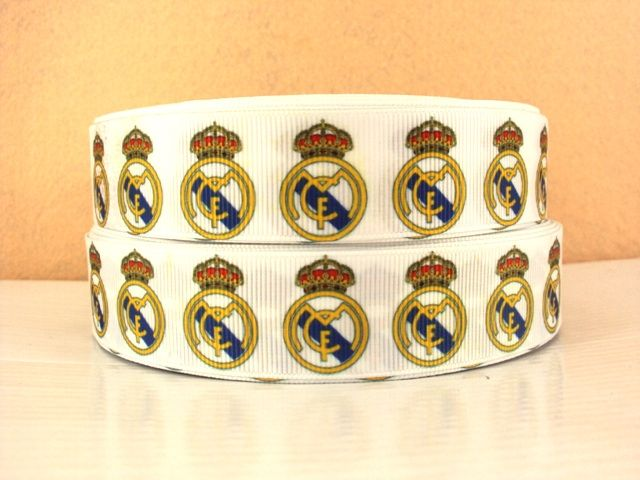 1 Metre Of Real Madrid Football Club Ribbon Size 1 Inch