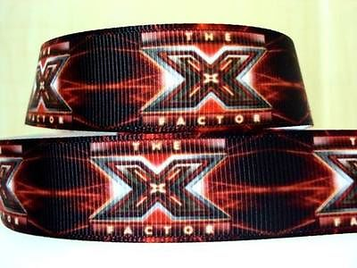 1 METRE OF THE X FACTOR RIBBON SIZE 7/8 BOWS HEADBANDS HAIR BIRTHDAY CAKE CARD MAKING