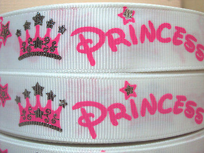 1 METRE WHITE PRINCESS RIBBON SIZE 7/8 HEADBANDS HAIR BOWS BIRTHDAY CAKE
