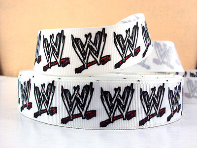 1 METRE WWE WRESTLING RIBBON SIZE 1 INCH BOWS HEADBANDS HAIR BIRTHDAY CAKE CARD MAKING