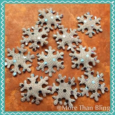 10 X 1.5 INCH BLUE SNOWFLAKE APPLIQUE EMBELLISHMENTS HEADBANDS CARD MAKING