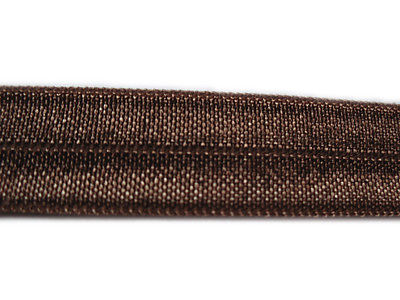 2 YARD BROWN FOLDOVER ELASTIC SIZE 5/8 PERFECT FOR HEADBANDS FOE