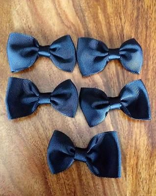 5 X 2.5 INCH BLACK BOWS EMBELLISHMENT HEADBANDS SOCKS SHOES BOWS HAIR CLIPS