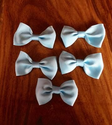 5 X 2.5 INCH LIGHT BLUE BOWS EMBELLISHMENT HEADBANDS SOCKS SHOES BOWS HAIR CLIPS