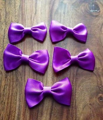 5 X 2.5 INCH PURPLE BOWS EMBELLISHMENT HEADBANDS SOCKS SHOES BOWS HAIR CLIPS