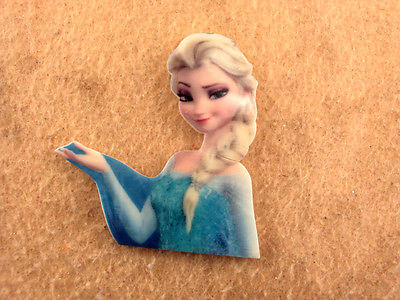 5 x 46MM LASER CUT FLAT BACK RESIN ELSA FROM FROZEN BOWS HEADBANDS PLAQUES