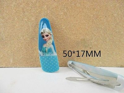 5 x 50mm ELSA FROM FROZEN HAIR SLIDES SLEEPIES LOOK WAS £1.79 NOW JUST 99P SALE