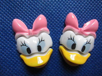 5 X DAISY DUCK 32MM FLAT BACK RESIN EMBELLISHMENTS HEADBANDS BOWS PLAQUES